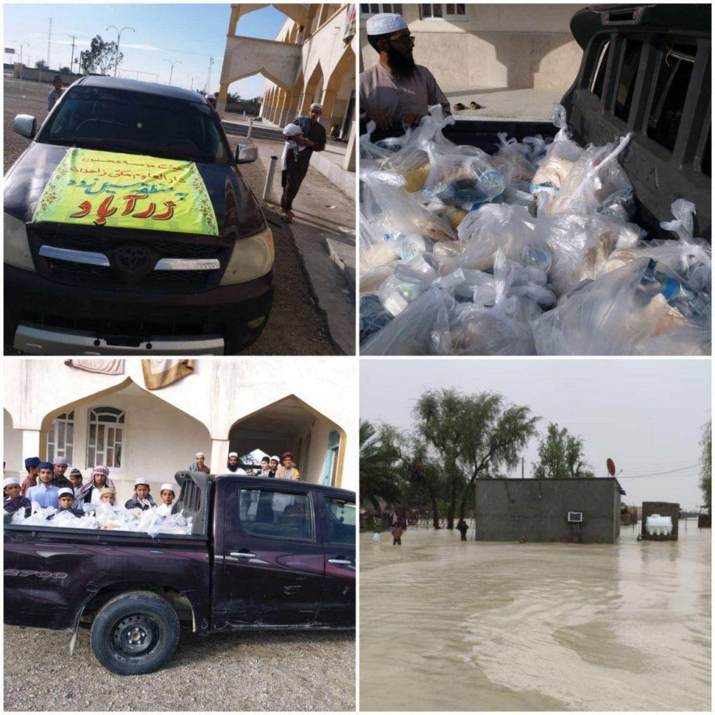 اولین محموله کمک های مردمی به سیل زدگان جنوب بلوچستان رسید